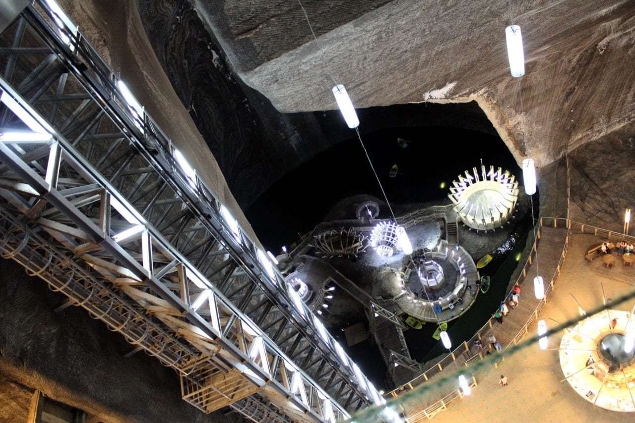 Turda spectacular Salt Mine-seen in this Transylvania Dracula tour from Bucharest