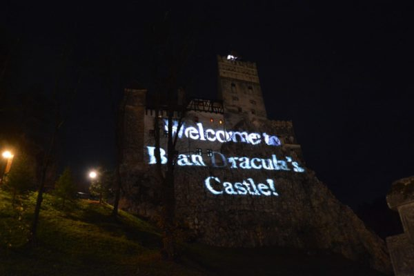 Bran castle Halloween party visited in these Romania Tours from Budapest
