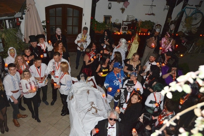 dracula-tour-on-halloween-Halloween Party in Sighisoara Citadel,  Dracula's birthplace