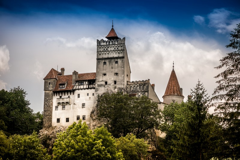Bran Castle aka Dracula Castle seen in Dracula tours and Best of Romania tours