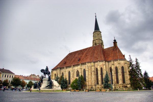 Cluj Saint Michael Catedral and the statue of Matias Rex-Private Dracula tour -Romania private tours