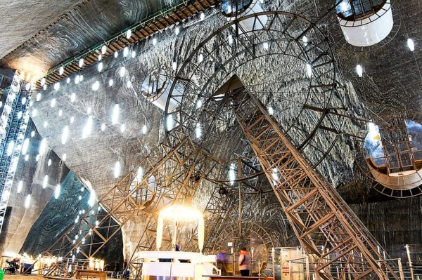 Turda Salt Mine seen in Dracula tours and Best of Romania tours-Romania Vampire tour
