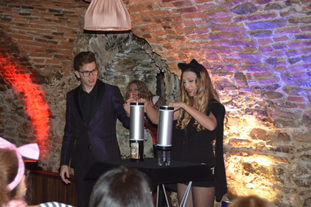 Magicians show at the best Halloween party in Transylvania Romania