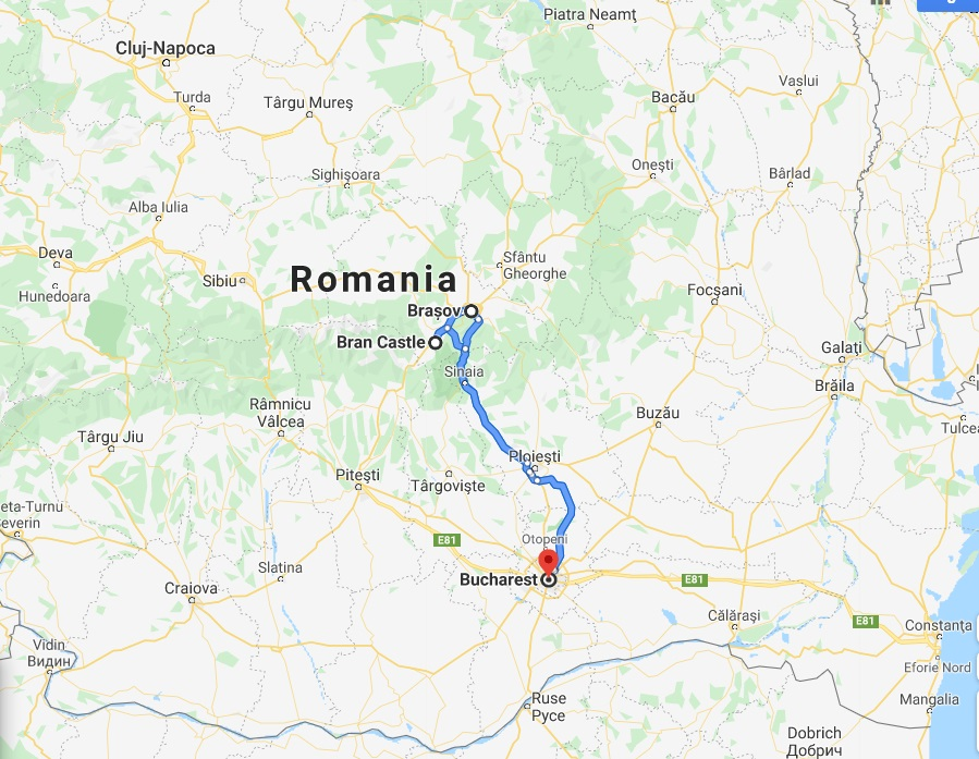 Halloween party at Bran Castle map, Best Transylvania Holidays 2022